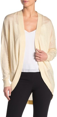Theory Waterfall Sag Harbor Linen Blend Cardigan