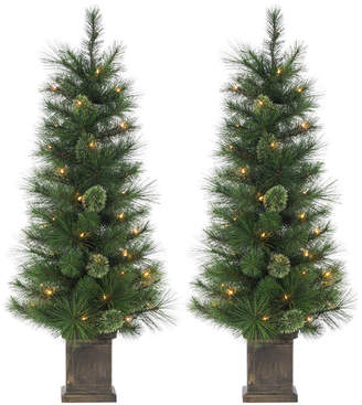 Sterling Tree Company 4Ft Potted Hard Mixed Needle Cashmere Tree