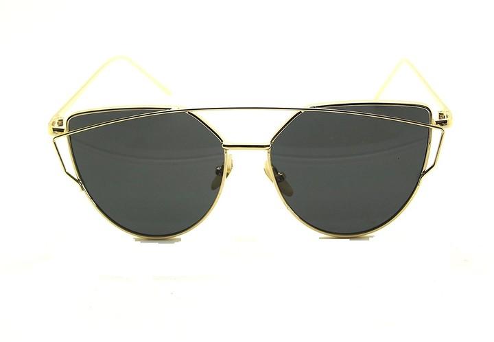 Thumbnail for your product : Boolavard RetroUV Fashion Women Cat Eye Sunglasses Classic Brand Designer Twin-Beams Sunglasses Lady Coating Mirror Flat Panel