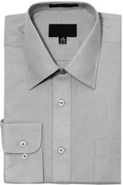 G-Style USA Men's Regular Fit Long Sleeve Solid Color Dress Shirts - 3X-Large - 36-37