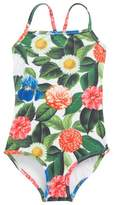 Oscar de la Renta Flower Jungle One-Piece Swimsuit