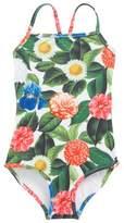 Oscar de la Renta Girl's Flower Jungle One-Piece Swimsuit