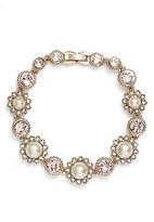 Marchesa Women's Crystal & Imitation Pearl Bracelet