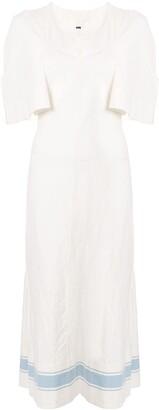 Jil Sander Striped Hem Dress
