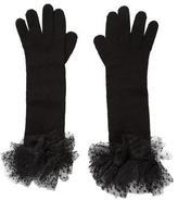 Saint Laurent Knit Elbow-Length Gloves