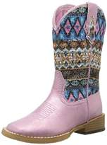 Roper Aztec Metallic Square Toe Bling Cowgirl Boot (Toddler/Little Kid),5 M US Toddler