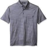 Bugatchi Men's Dominic Short Sleeve Striped Polo Shirt