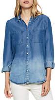 Mint Velvet Ombre Chambray Shirt, Multi