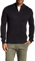 Toscano Long Sleeve Quarer Zip Mock Neck Sweater