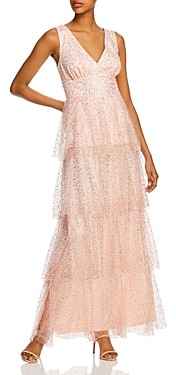 Laundry by Shelli Segal Tiered Glitter-Mesh Gown - 100% Exclusive