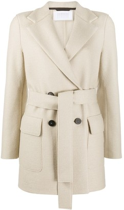 Harris Wharf London Double-Breasted Belted Coat