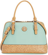 Giani Bernini Saffiano Cork Dome Satchel, Only at Macy's