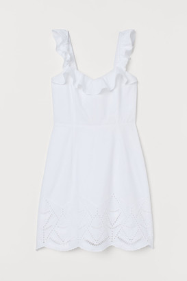 H&M Dress with Ruffles - White