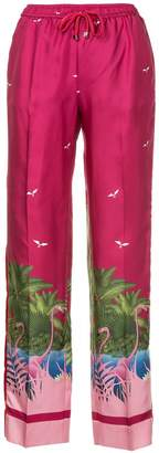 F.R.S For Restless Sleepers flamingo print trousers