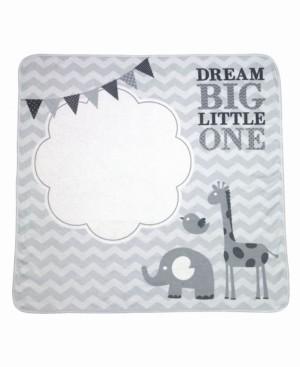 "Lillian Rose Dream Big"" Elephant Baby Blanket with Milestone Cards"