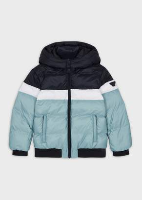 Emporio Armani Quilted Down Jacket In Ripstop Nylon