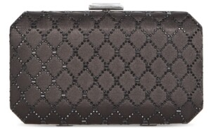 INC International Concepts Inc Sasha Satin Sparkle Clutch, Created for Macy's