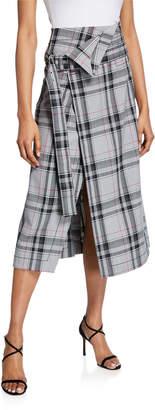 3.1 Phillip Lim Plaid Belted Skirt