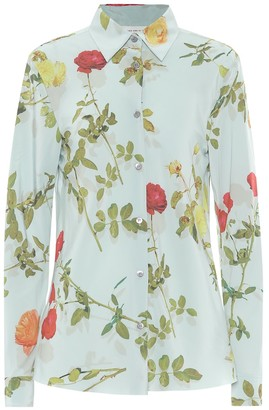 Dries Van Noten Floral crepe blouse