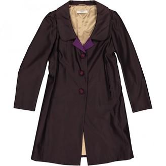 Prada Burgundy Wool Coats