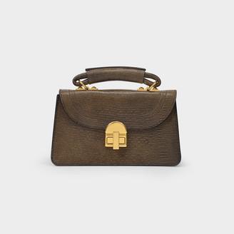 Marni Handbag Juliette Mini In Embossed Caramel Leather