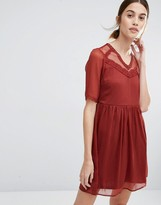 Vero Moda Mesh Yoke Skater Dress