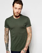 Farah T-Shirt With F Logo In Slim Fit In Evergreen