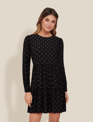Forever New Demi Smock Mini Dress - Majorelle Ditsy - 10