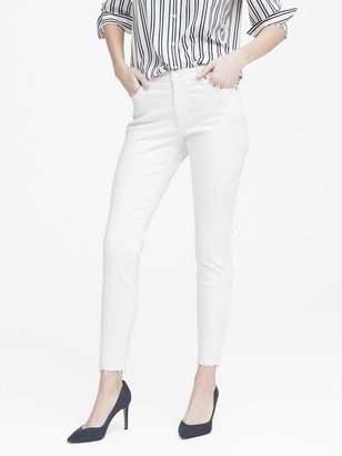 Banana Republic Mid-Rise Skinny Ankle Jean with Raw Hem