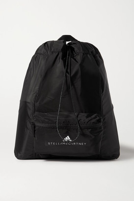adidas by Stella McCartney Convertible Appliqued Shell Backpack - Black