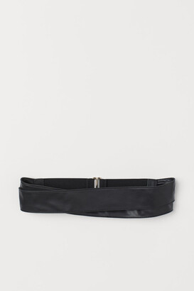 H&M Wrapover Waist Belt - Black