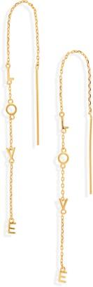 ADORNIA Love Threader Earrings