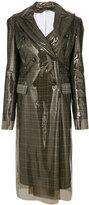 Calvin Klein double breasted waterproof coat