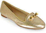 Kate Spade Treat - Liquid Suede Loafers in Gold