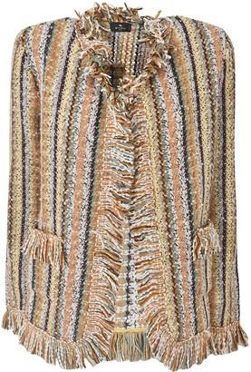 Etro Stripe Frayed Cardigan