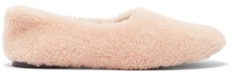 Fur Deluxe - Shearling Ballet Flats - Nude