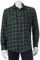 Croft & Barrow Men's Classic-Fit Plaid Flannel Performance Button-Down Field Shirt