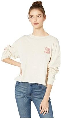 Rip Curl Good Times Long Sleeve Tee (Stone) Women's T Shirt