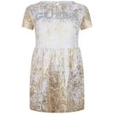 GUESS GuessGirls White & Gold Dress
