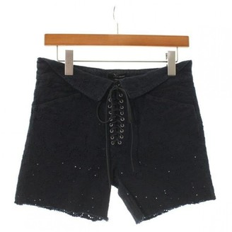 Isabel Marant Navy Cotton Shorts