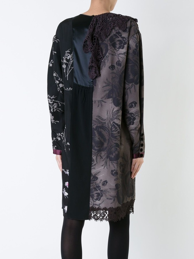 Thumbnail for your product : Marc Jacobs Floral Patchwork Shift Dress