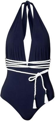 Emma Pake Belted Halterneck Swimsuit