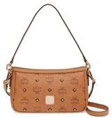 MCM 'Gold Visetos' Shoulder Bag - Brown