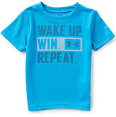 Under Armour Baby Boys 12-24 Months Wake Up Short-Sleeve Logo Graphic Tee
