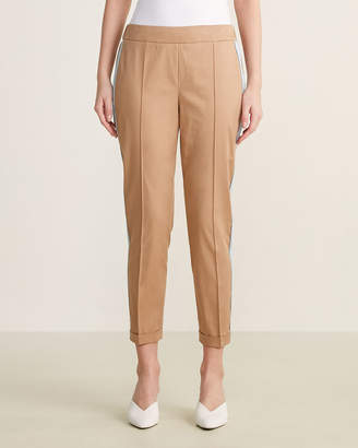 Mariella Rosati Stripe Side Roll Cuff Pants