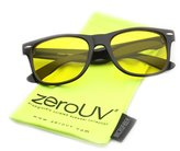 Zerouv Blue Blocking Driving Horn Rimmed Sunglasses Amber Tinted Lens