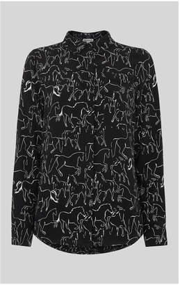 Whistles Stallion Print Pocket Shirt