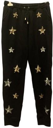 Zoe Karssen Black Cotton Trousers