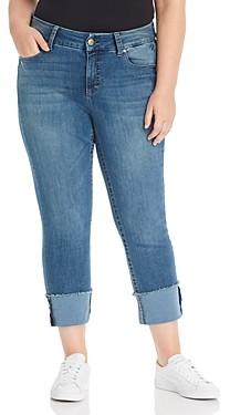 Seven7 Jeans Plus Lia Tummyless Slim-Straight Jeans in Lone Star