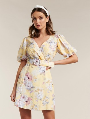 Ever New Maggie Linen Wrap Dress